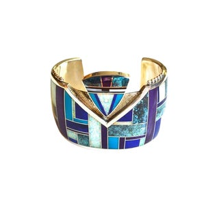 Yazzie Opal Yei Cuff For Sale