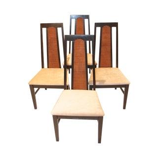 Mid-Century Modern Cane Back Ebonised Chairs - 4