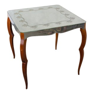 French Mirrored Card Table For Sale