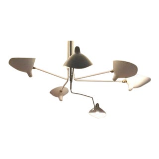 Serge Mouille Ceiling Lamp Six Rotating Arms