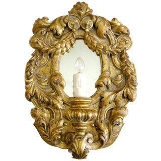 Italian Gilt-wood Designer Sconce by Randy Esada Designs for PROSPR For Sale