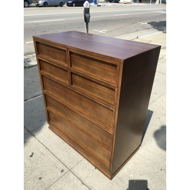 Gorgeous mid century modern highboy by Triangle Brand bedroom furniture Crane & MacMahon, Inc. St. Marys, Ohio. Unique...
