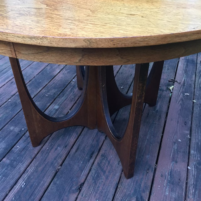 Broyhill Brasilia Dining Table with One Leaf For Sale - Image 9 of 11