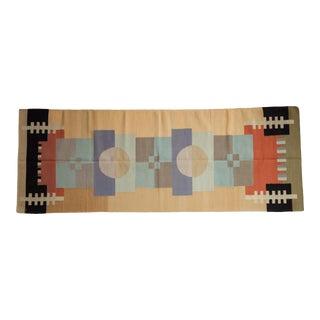 "Vintage Contemporary Kilim Rug Runner - 3' X 8'1"" For Sale"