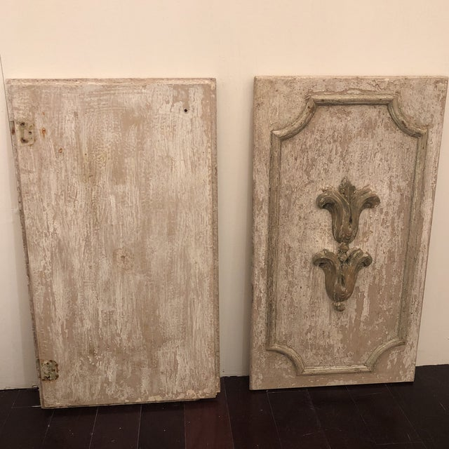 Wood Panels With Antique Fragments - A Pair For Sale In Houston - Image 6 of 7