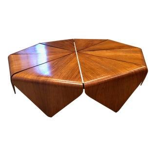 1950s Mid-Century Modern Jorge Zalszupin Petala Coffee Table For Sale