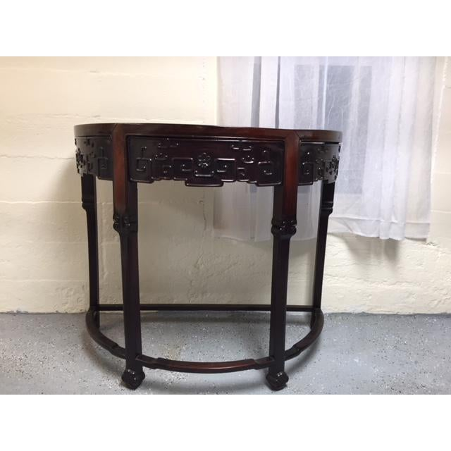 1800's Demi Lune Rosewood Console For Sale In New York - Image 6 of 6