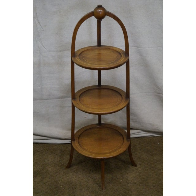 Store Item #: 14737-ax Biggs Mahogany Regency Style 3 Tier Muffin Stand AGE/COUNTRY OF ORIGIN: Approx 50 years, America...
