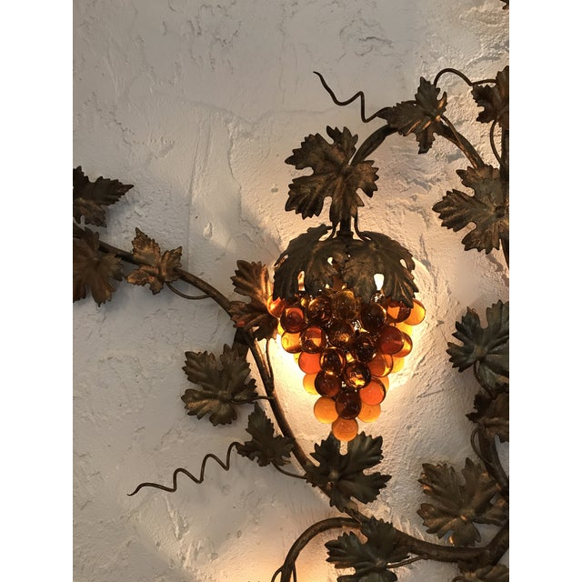 Vintage Murano Grape Cluster Light For Sale In Tampa - Image 6 of 10