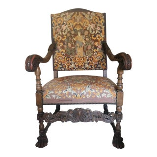 Antique Throne Chair Louis VIII Style For Sale