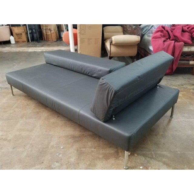 1990's Vintage Tacchini Pietro Arsorio Happy Hour Black Leather Sofa For Sale In Miami - Image 6 of 9