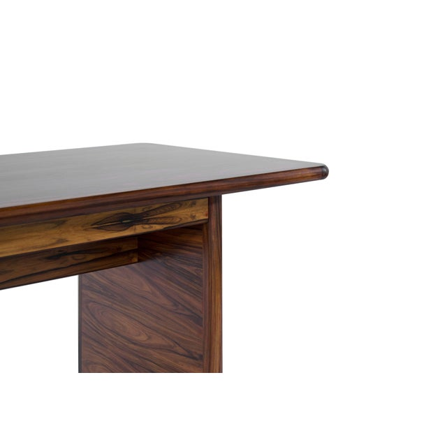 Danish Modern Rosewood Desk For Sale In New York - Image 6 of 10