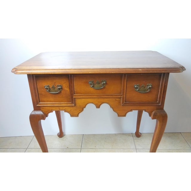 20th Century Queen Anne Style L & Jg Stickley Oak Writing Desk For Sale - Image 6 of 11