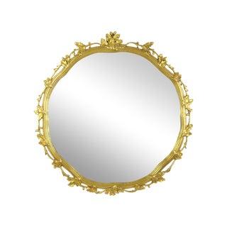 Large Oak Leaf & Acorn Giltwood Mirror For Sale