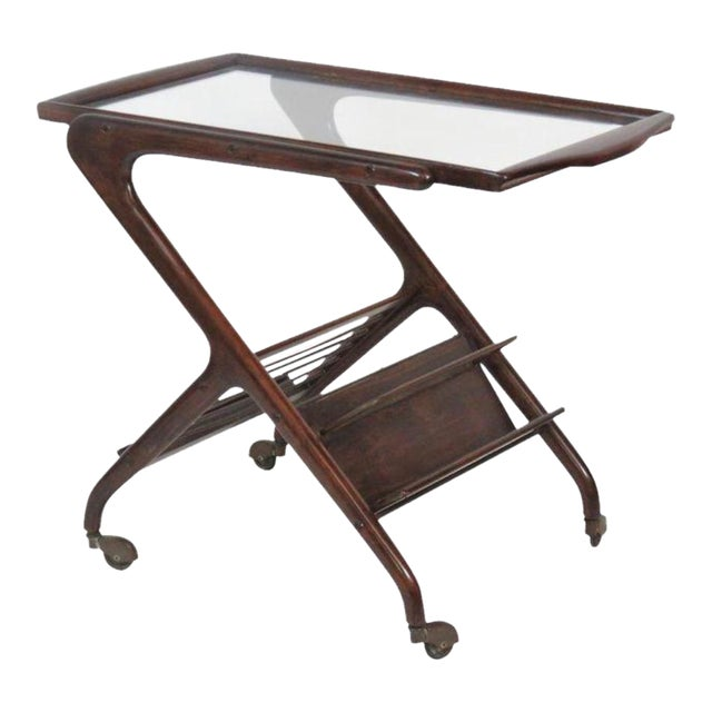 Ico Parisi Style Bar Cart For Sale