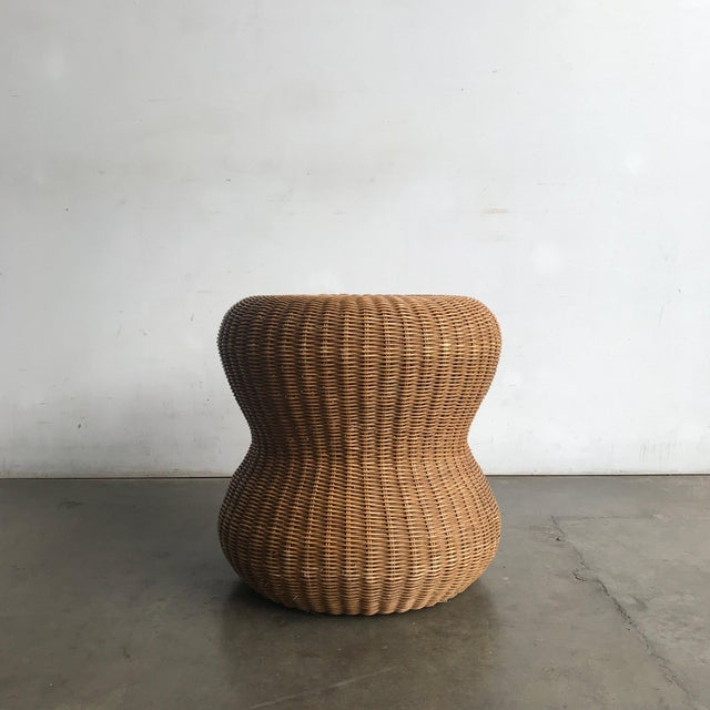Late 20th Century Rattan Side Table For Sale - Image 4 of 10