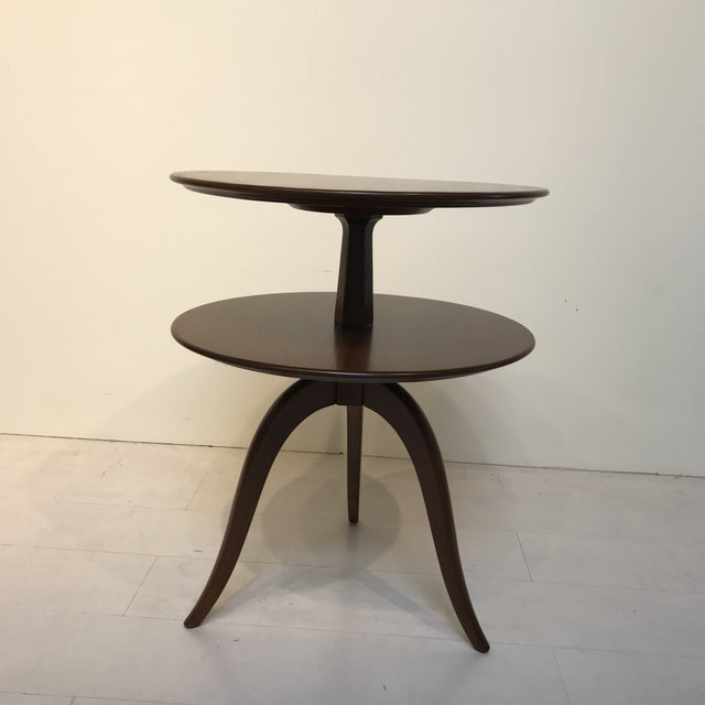 Brown Saltman 1950s Mid-Century Modern Paul Frankl for Brown Saltman Tiered Oak Side Table For Sale - Image 4 of 6