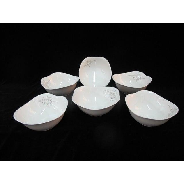 Ceramic Eva Zeisel Hall Mid Century Modern Atomic Fantasy Coupe Cereal Bowls - Set of 6 For Sale - Image 7 of 7