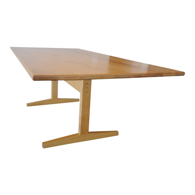Solid Beech Trestle Table - Image 1 of 9