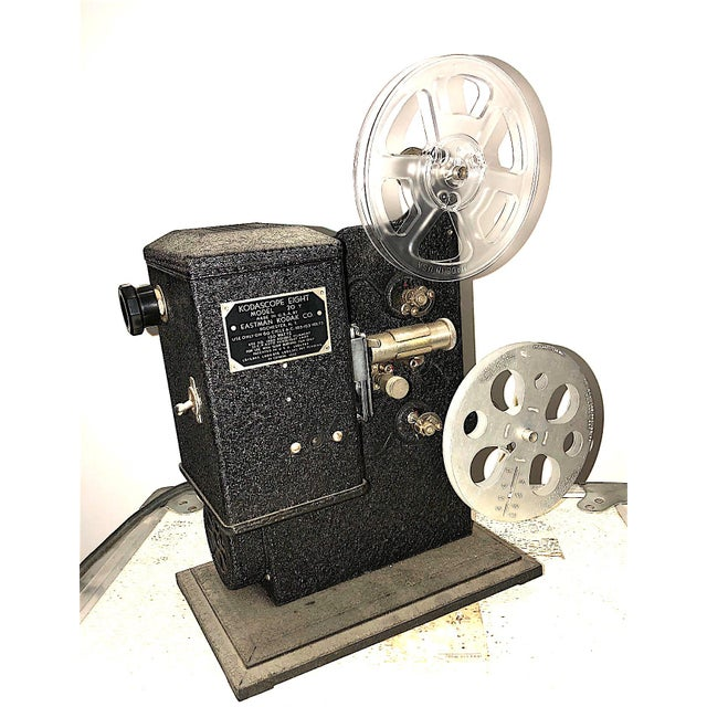Early 20th Century Kodak Movie Projector Circa 1934. Original Black Finish. Correct Art Deco Display Piece For Sale - Image 5 of 6
