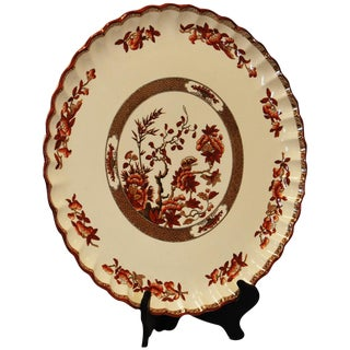 Spode Indian Tree Orange/Rust Round Torte Plate For Sale