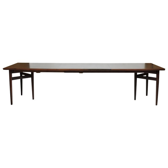 Arne Vodder Expandable Danish Modern Rosewood Dining Conference Table Model 201 For Sale