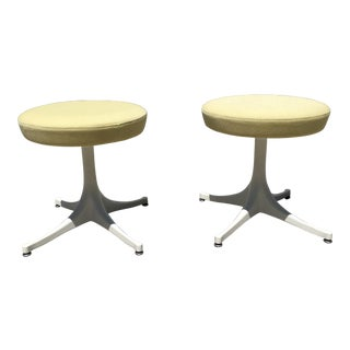 1960s Mid-Century Modern George Nelson for Herman Miller Stools - a Pair For Sale