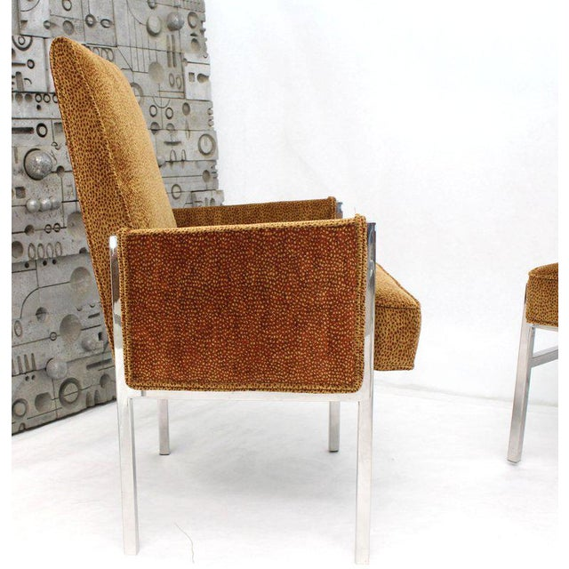 Vintage Mid Century Chrome Frame New Upholstery Dining Chairs- Set of 8 For Sale - Image 11 of 13