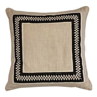 Travers Black Worth Avenue Rocina Strie Pillow Cover For Sale