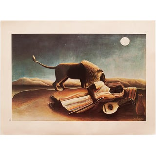 """1966 Henri Rousseau, """"The Sleeping Gypsy"""" Lithograph From Milan For Sale"""