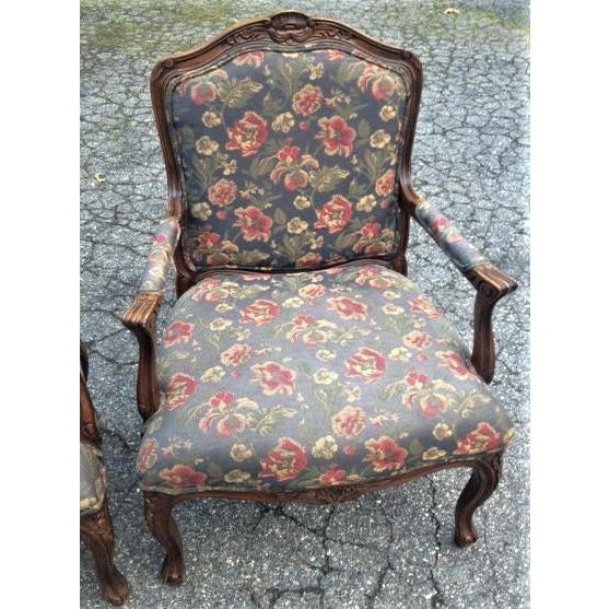 20th Century French Provincial Louis XV Style Armchairs - a Pair For Sale - Image 10 of 13