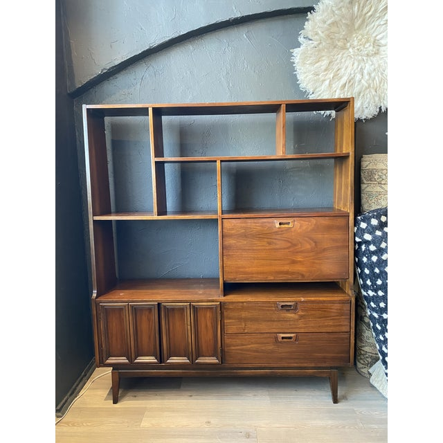 Mid-Century Modern Danish Bookcase With Secretary Desk For Sale - Image 11 of 11