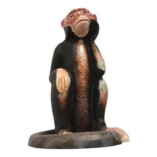 Hubley Monkey Cast Iron Bank Doorstop