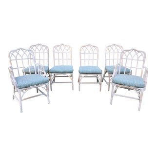 McGuire Chinese Chippendale Chairs - Set of 6 For Sale