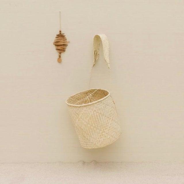 Boho Chic Boho Chic Oaxaca Palm Basket With Strap For Sale - Image 3 of 6