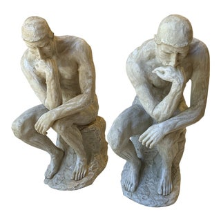 Early 21st Century Rodin the Thinker Bookends - a Pair For Sale