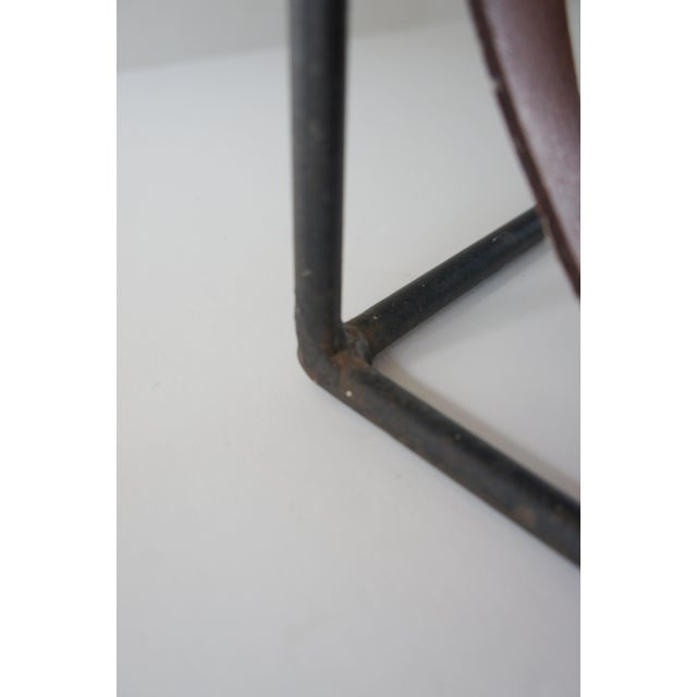 Mid-Century Modern Arthur Umanoff Sculptural Wrought Iron and Leather Wine Rack For Sale - Image 12 of 13