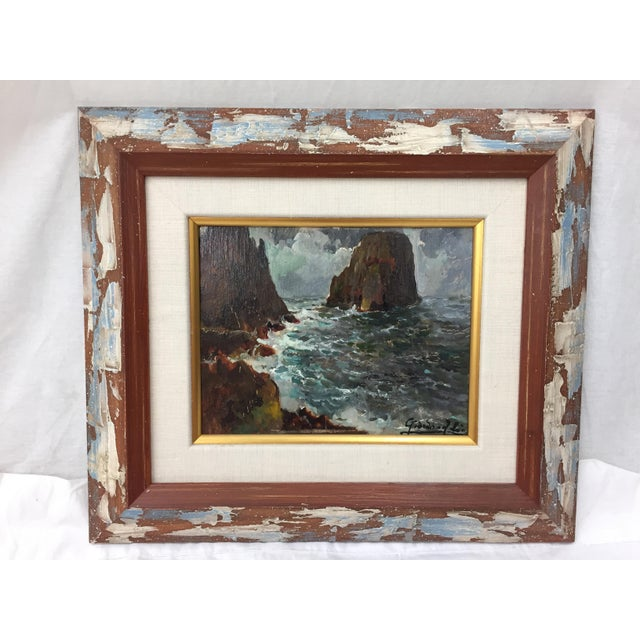 Framed & Signed Seascape Oil Painting - Image 4 of 10