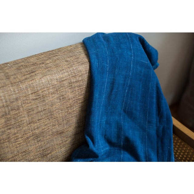 "Vintage Indigo African Batik Throw - 4' x 6'3"" - Image 3 of 7"