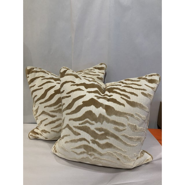 Hollywood Regency Beacon Hill Tiger Pillows - a Pair For Sale In Chicago - Image 6 of 6