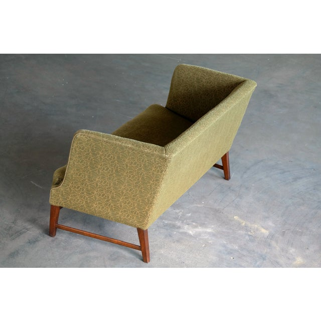 1930s Kaare Klint Style Danish Settee in Mahogany Attributed to Georg Kofoed For Sale - Image 9 of 12