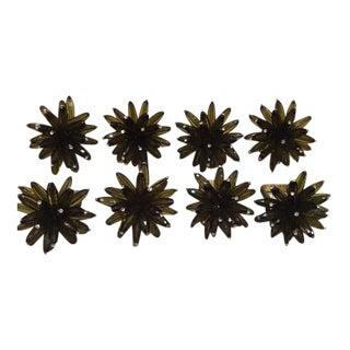 Kym Seybert Beaded Green Constellation Napkin Rings - Set of 6 For Sale