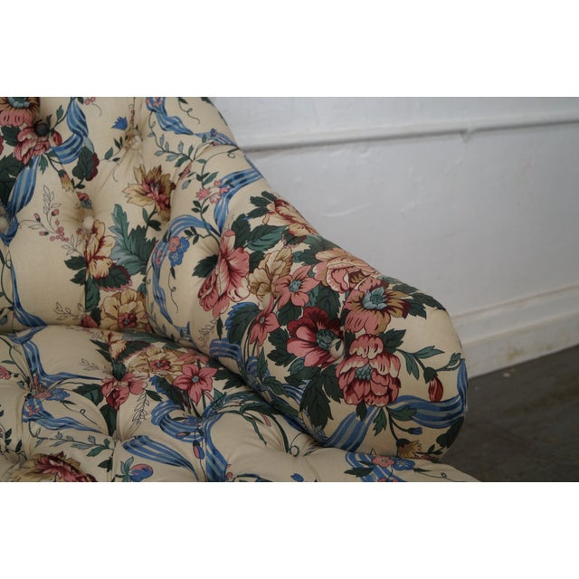 KayLyn Inc. Floral Upholstered Tufted Chaise Lounge - Image 6 of 10