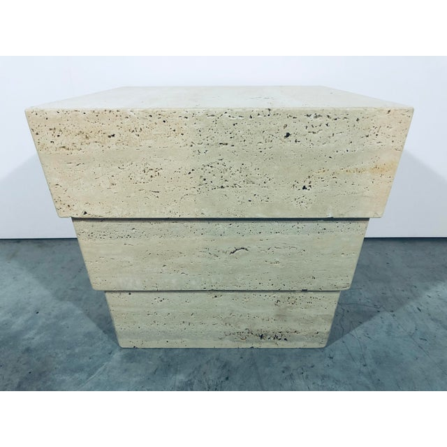 1970s 1970s Mid-Century Modern Italian Travertine Pedestal For Sale - Image 5 of 12