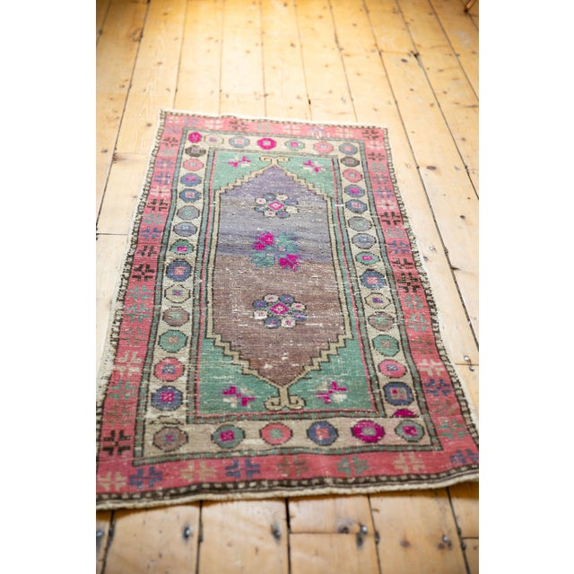 """Vintage Distressed Oushak Rug Runner - 2'4"""" X 4'10"""" For Sale In New York - Image 6 of 9"""