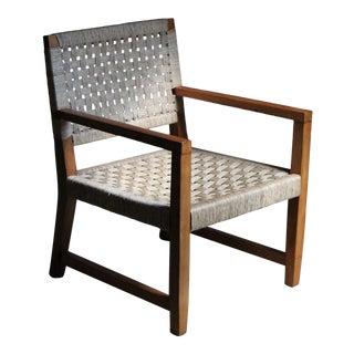 1940s Vintage Michael Van Beuren Woven Lounge Chair For Sale