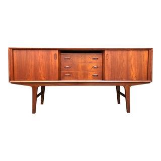 Mid-Century Modern Danish Teak Sideboard Credenza Storage Cabinet