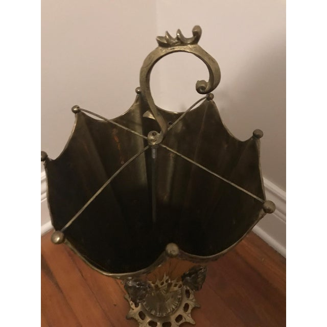 Ornate Brass Umbrella Shaped Umbrella Stand - Image 6 of 7