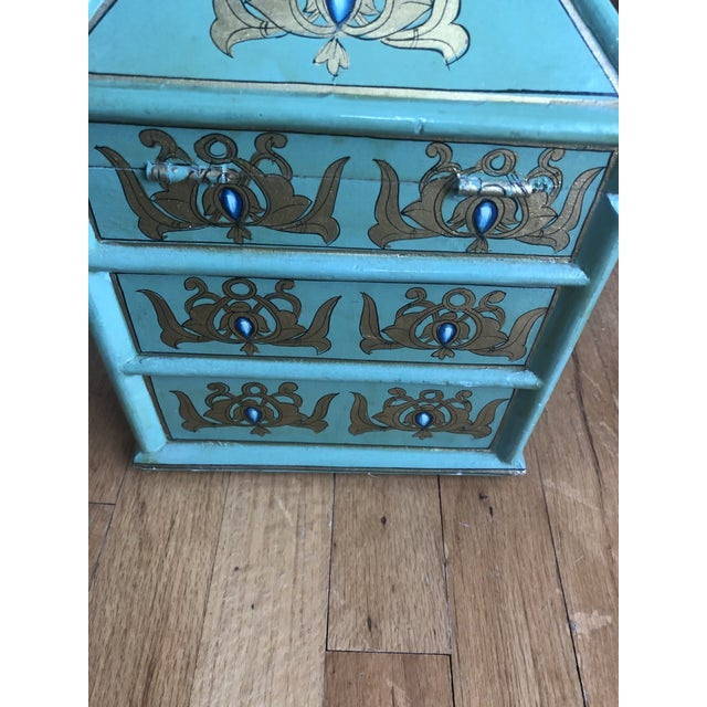 Vintage Indian Hand Painted Box For Sale - Image 9 of 13