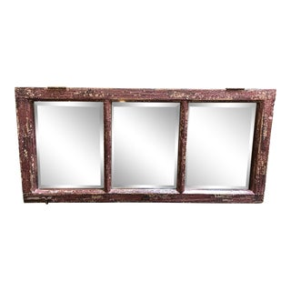Vintage Style 3 Panel Wall Mirror For Sale